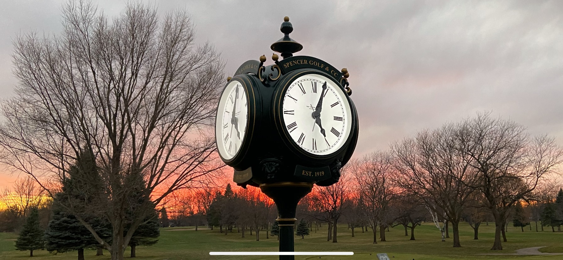 Spencer Golf and Country Club Clock